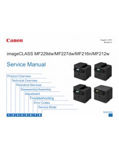 Canon imageCLASS MF-200 212w 216n 222dw 224dw 226dn 227dw MF229dw Service Manual