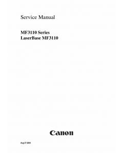 Canon imageCLASS MF-3110 Service Manual