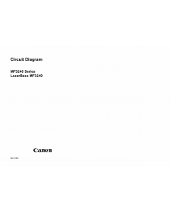 Canon imageCLASS MF-3240 Circuit Diagram