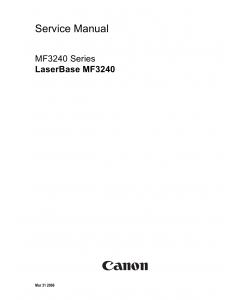 Canon imageCLASS MF-3240 Service Manual