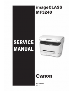 Canon imageCLASS MF-3240 Service and Parts Manual
