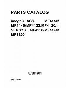 Canon imageCLASS MF-4100 4120 4122 4140 4150 Parts Catalog Manual