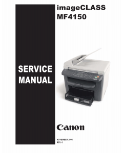 Canon imageCLASS MF-4150 Service and Parts Manual