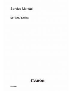 Canon imageCLASS MF-4300 4310 4318 4320 4350 4370 4380 Service Manual