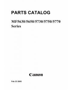 Canon imageCLASS MF-5630 MF5650 MF5730 MF5750 MF5770 Parts Catalog Manual