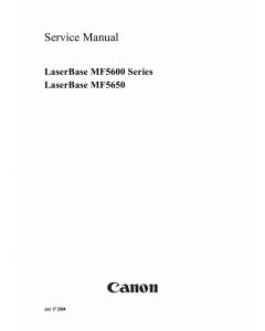 Canon imageCLASS MF-5650 Service Manual