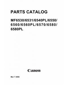 Canon imageCLASS MF-6500 6530 6531 6540 6550 6560 6570 6580 Parts Catalog Manual
