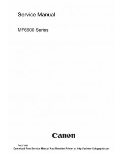 Canon imageCLASS MF-6500 6530 6540PL 6550 6580PL Service Manual