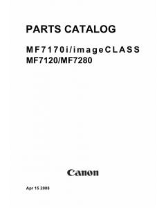 Canon imageCLASS MF-7170i 7120 7280 Parts Catalog Manual