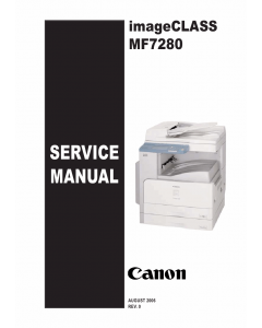 Canon imageCLASS MF-7280 Service and Parts Manual