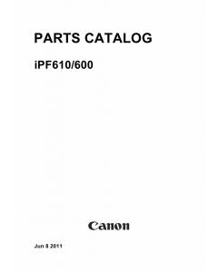 Canon imagePROGRAF iPF-610 600 Parts Catalog Manual