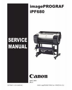 Canon imagePROGRAF iPF-680 Service Manual