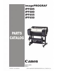 Canon imagePROGRAF iPF-685 680 655 650 Parts Catalog Manual