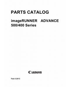 Canon imageRUNNER-ADVANCE-iR 500 400 Parts Manual