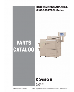Canon imageRUNNER-ADVANCE-iR 8085 8095 8105Pro Parts Catalog