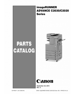 Canon imageRUNNER-ADVANCE-iR C2020 2025 2030 Parts Catalog