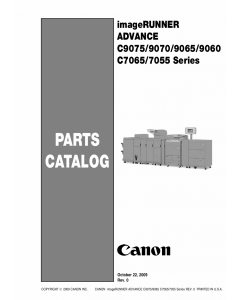 Canon imageRUNNER-ADVANCE-iR C7065 C7055 C9075 C9070 C9065 C9060 Parts Catalog