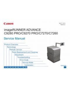 Canon imageRUNNER-ADVANCE-iR C7260 C7270 C9270 C9280Pro Service Manual