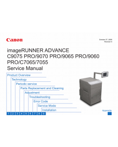 Canon imageRUNNER-ADVANCE-iR C9075 C9070 C9065 C9060Pro Service Manual