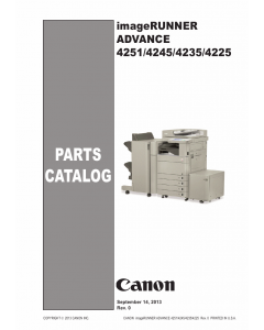 Canon imageRUNNER-ADVANCE iR-4251 4245 4235 4225 Parts Catalog Manual