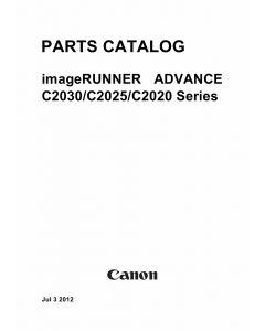 Canon imageRUNNER-ADVANCE iR-C2030 C2025 C2020 Parts Catalog Manual