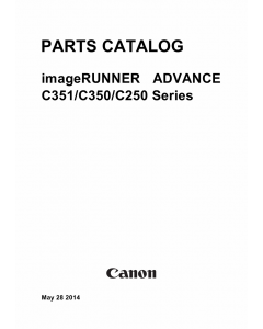 Canon imageRUNNER-ADVANCE iR-C250 C250i C250iF C250 C350i C350iF C351 C351iF Parts Catalog Manual