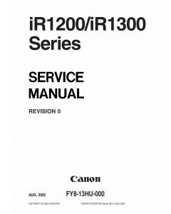 Canon imageRUNNER-iR 1200 1300 Service Manual