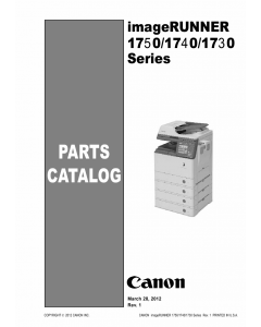 Canon imageRUNNER-iR 1730 1740 1750 i iF Parts Catalog