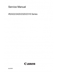 Canon imageRUNNER-iR 2422 2420 2320 2318 Service Manual