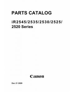 Canon imageRUNNER-iR 2520 2525 2530 2535 2545 i Parts Catalog