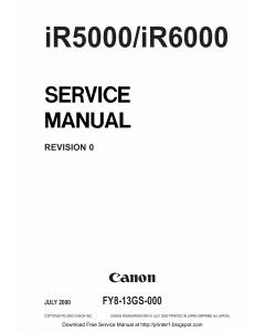 Canon imageRUNNER-iR 5000 6000 Service Manual