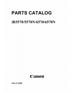Canon imageRUNNER-iR 6570 5570 6570N 5570N Parts Catalog