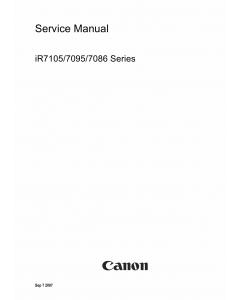 Canon imageRUNNER-iR 7105 7095 7086 Service Manual
