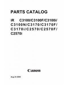 Canon imageRUNNER-iR C3100 C3170 C2580 Parts Catalog