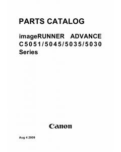 Canon imageRUNNER-iR C5030 5035 5045 5051 Parts Catalog