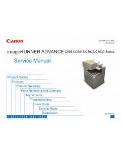 Canon imageRUNNER-iR C5030 5035 5045 5051 Service Manual