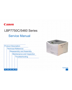 Canon imageRUNNER-iR LBP-7750C 5460 Service Manual