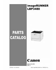 Canon imageRUNNER-iR LBP3480 Parts Catalog