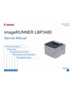 Canon imageRUNNER-iR LBP3480 Service Manual