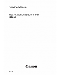 Canon imageRUNNER iR-2030 2025 2022 2018 Parts and Service Manual