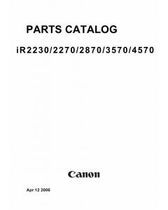 Canon imageRUNNER iR-2230 2270 2870 3570 4570 Parts Catalog Manual