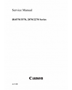 Canon imageRUNNER iR-4570 3570 2870 2270 Parts and Service Manual