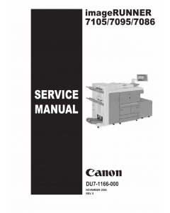 Canon imageRUNNER iR-7105 7095 7086 Parts and Service Manual