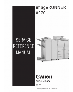 Canon imageRUNNER iR-8070 Parts and Service Manual