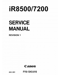 Canon imageRUNNER iR-8500 7200 Parts and Service Manual