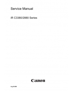 Canon imageRUNNER iR-C3380 C2880 Parts and Service Manual
