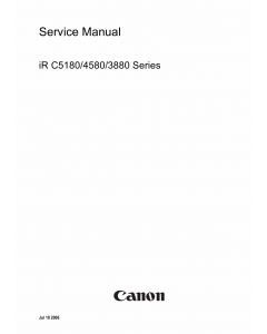 Canon imageRUNNER iR-C5180 C4580 C3880 Parts and Service Manual