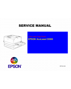 EPSON AcuLaser C8500 Service Manual