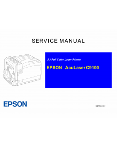 EPSON AcuLaser C9100 Service Manual