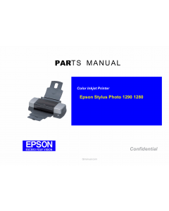 EPSON StylusPhoto 1290 1280 Parts Manual